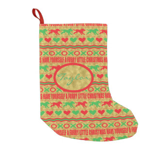 """DOGS Stocking """"Furry Little Christmas"""" Pet Lovers"""