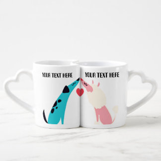 dogs valentine CUSTOMIZABLE lovers mugs