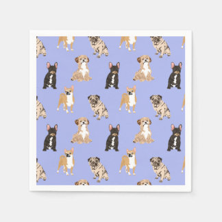 Dogs Vector Seamless Pattern Paper Napkins
