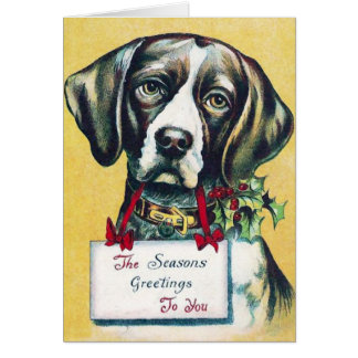 Dog's Vintage Holiday Card