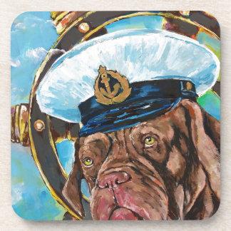 Dog's Year // Sailor's Dog // Gift to him Coaster
