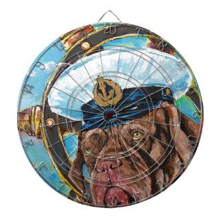 Dog's Year // Sailor's Dog // Gift to him Dartboard
