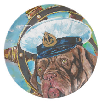 Dog's Year // Sailor's Dog // Gift to him Plate