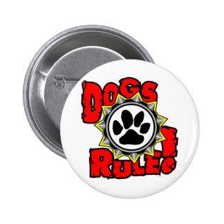 DogsRule_Logo_Color Pinback Buttons