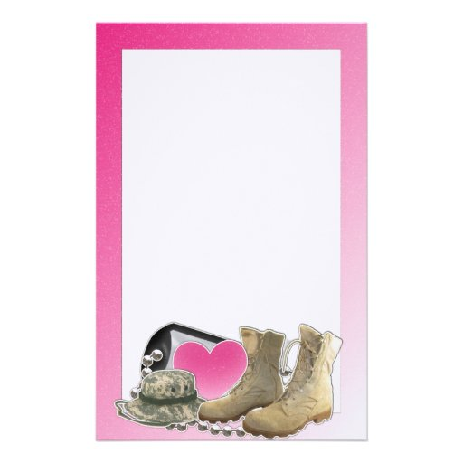 Dogtag and Boots Customized Stationery