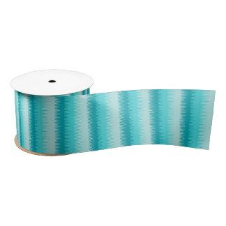 Dogtooth aqua teal blue stripes ribbon satin ribbon