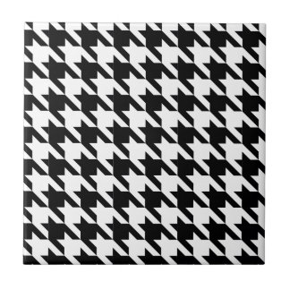 Dogtooth, Houndstooth pattern in Black&White Tile