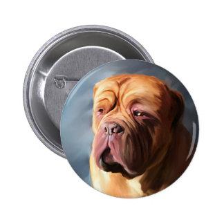 Dogue de Bordeaux Art - Stormy Dogue Pinback Button