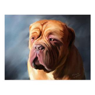 Dogue de Bordeaux Art - Stormy Dogue Postcard