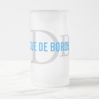 Dogue de Bordeaux Breed Monogram Frosted Glass Mug