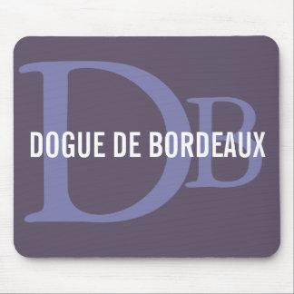 Dogue de Bordeaux Breed Monogram Mouse Pad