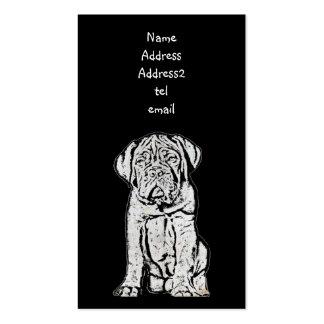 Dogue de Bordeaux business card