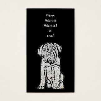 Dogue de Bordeaux business card