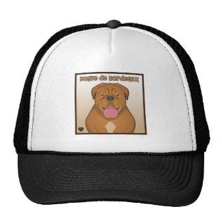 Dogue de Bordeaux Cartoon Trucker Hats