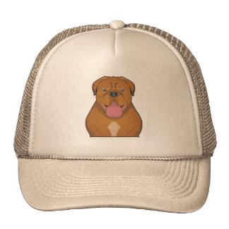 Dogue de Bordeaux Cartoon Hats