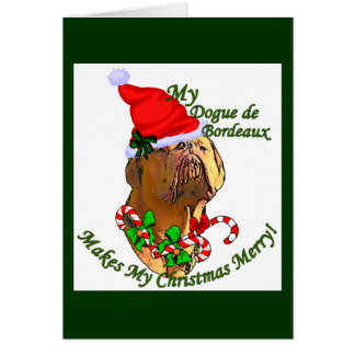 Dogue de Bordeaux Christmas Gifts Card
