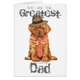 Dogue de Bordeaux Dad Card