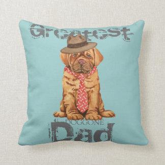 Dogue de Bordeaux Dad Throw Cushion