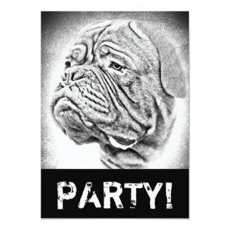 "Dogue De Bordeaux dog art 5"" X 7"" Invitation Card"