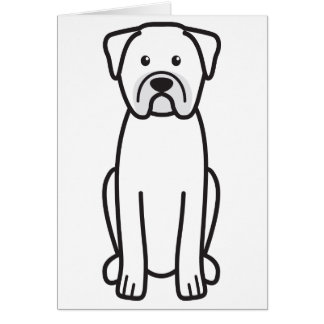Dogue de Bordeaux Dog Cartoon Note Card