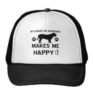 Dogue De Bordeaux dog designs Mesh Hats