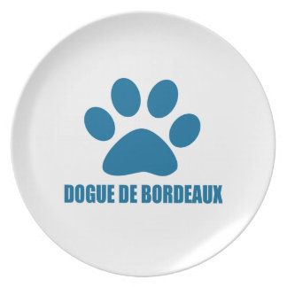 DOGUE DE BORDEAUX DOG DESIGNS PLATE