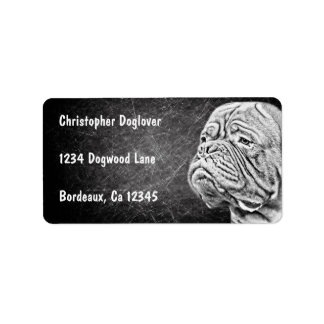 Dogue De Bordeaux - French Mastiff Address Label