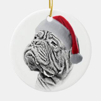 Dogue De Bordeaux - French Mastiff Ceramic Ornament