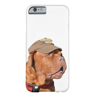Dogue de Bordeaux, French Mastiff dog in hat Barely There iPhone 6 Case