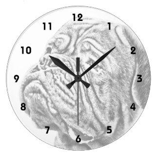 Dogue De Bordeaux - French Mastiff Large Clock