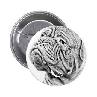 Dogue De Bordeaux - French Mastiff Pinback Button