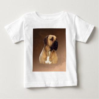 Dogue De Bordeaux Mastiff Dog Portrait Painting Baby T-Shirt
