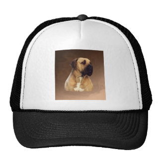 Dogue De Bordeaux Mastiff Dog Portrait Painting Cap