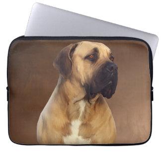 Dogue De Bordeaux Mastiff Dog Portrait Painting Laptop Computer Sleeves
