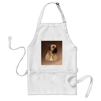 Dogue De Bordeaux Mastiff Dog Portrait Painting Standard Apron