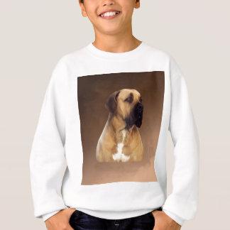 Dogue De Bordeaux Mastiff Dog Portrait Painting Sweatshirt