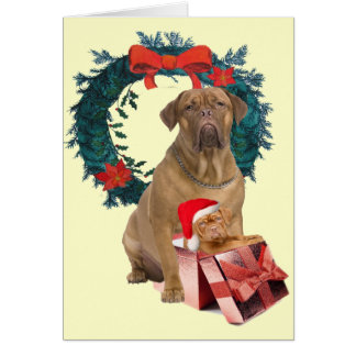 Dogue De Bordeaux Merry Christmas Card