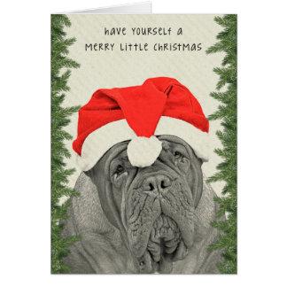 Dogue de Bordeaux Merry Little Christmas Greeting Card