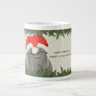 Dogue de Bordeaux Merry Little Christmas Jumbo Mug