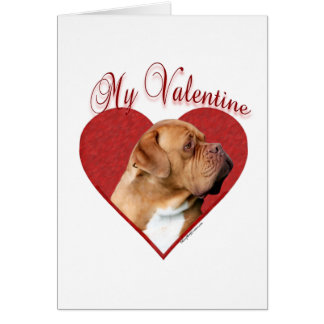 Dogue de Bordeaux My Valentine Card