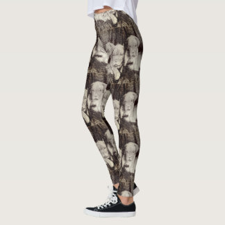 Dogue de Bordeaux  puppies art leggings