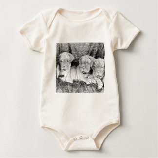 Dogue de Bordeaux puppies Baby Bodysuit