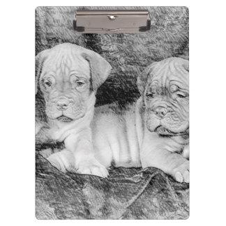 Dogue de Bordeaux puppies Clipboards
