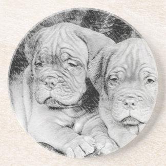 Dogue de bordeaux puppies coasters