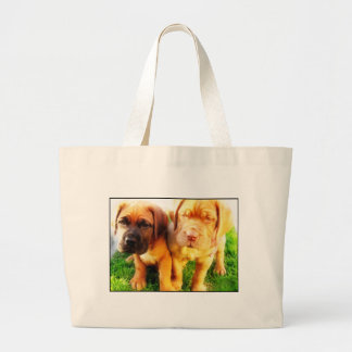 Dogue de Bordeaux puppies tote bag