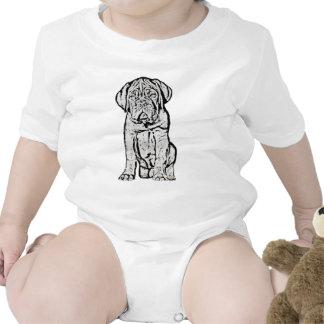 Dogue de Bordeaux puppy baby Romper