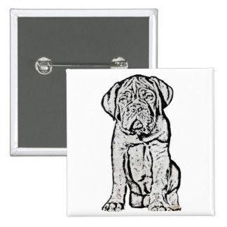 Dogue de Bordeaux puppy button