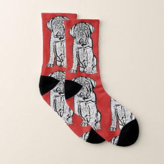 Dogue de Bordeaux  puppy dog socks 1