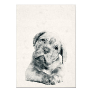 Dogue de Bordeaux Puppy Watercolor 5x7 Print Card