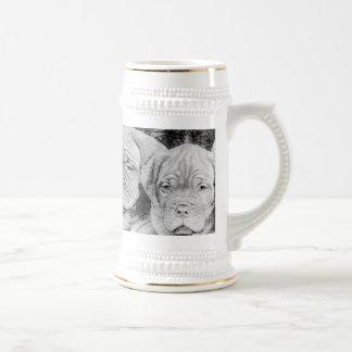 Dogue de bordeaux stein coffee mug